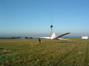 dismantling of used wind turbine