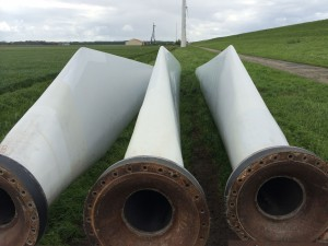 Spare blades for the Windmaster 300KW at Dutchwind