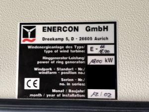 Enercon E66, used wind turbines, gebrauchte Windkraftanlagen